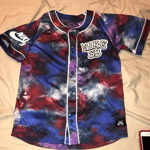 Rare Nike SB Dri-fit galaxy baseball style jersey